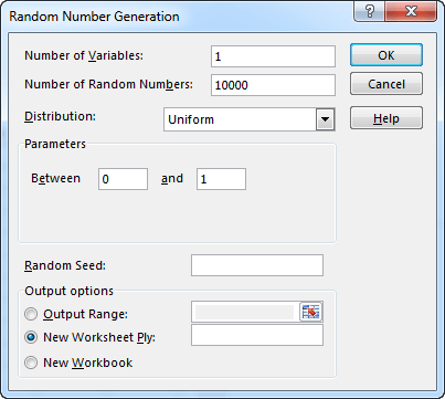 how to make a random number generator with excel
