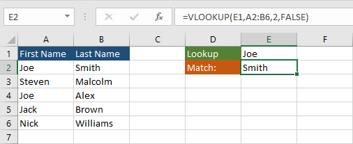 INDEX-MATCH or VLOOKUP to return multiple values in Excel